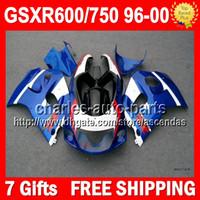 7gifts For SUZUKI GSX R600 R750 SRAD GSXR 600 750 Stock blue...