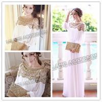 Cheap 2014 New Fashion Luxury Heavy Beaded Abaya Evening Chiffon Dress Brand Long Prom Dress Elegant Fancy Dubai Women Kaftan 851506