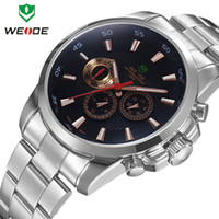 Cheap WEIDE new 2014 men watch luxury brand watches Japan movement relojes full steel men quartz clocks fashion gift free shipping