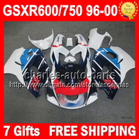 7gifts For SUZUKI GSX R600 R750 Blue white red SRAD GSXR 600...