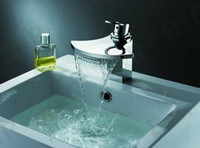 Wholesale Copper waterfall faucet axe water outlet basin hot and cold art ceramic basin LH