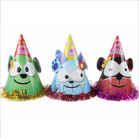Wholesale Party Supplies Cartoon Ears Paper Hat Child Birthday Hat Halloween Costume Christmas Gift BB250