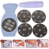Cheap New Salon Express Pro Nail Art Stamping Kit DIY Design Finger Stencil