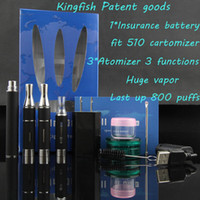 Cheap Retail kingfish 2014 newest all in one E-cigarette weed dry herbs vaporizer*1 liquid atomizer*1 wax vaporizer*1 650mAh battery*1 e-cig kit