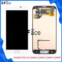 lcd - Q0343 Samsung Galaxy S5 i9600 G900A G900T G900V G900P LCD Screen Touch Digitizer Home Button Flex