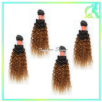 Cheap Hot Beauty Hair Virgin Brazilian Curly Hair Brazilian Kinky Curly Weave 4pcs Lot Wholesale 1b 30 2 Tone Ombre Human Hair Weave Weft 10-26