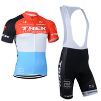 Short trek bike - 2014 New Men TREK Anime Cycling Bike Summer Short Sleeve cycling Jersey cycling bib short Suit SIZE S XL DS