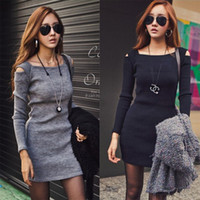 bandage dress - 2016 Spring Autumn Fashion Women Ladies Cotton Long Sleeve Bodycon Bandage Dresses Causal Party Dresses Sexy Base Cocktail Evening Dress
