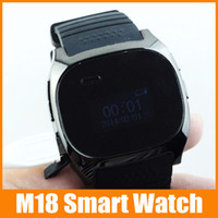 """Cheap 10pcs up 2014 New 1.0"""" LCD Anti-lost Bluetooth M18 Hands Watch with Audio Bracelet for Smart Phone Wristwatch Smart watch"""