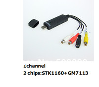 Wholesale Freeshipping New EasyCAP USB2 Video Adapter with Audio channel and chips STK1160 GM7113 factory price