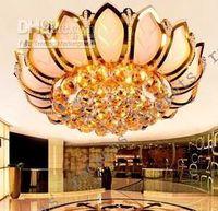 Wholesale Modern Fashion Classic Flower K9 Crystal Ceiling Lamp Chandelier Living Room Light Dia cm