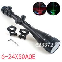 Wholesale OP Hot sale Tactical Scope x50 AOE Red Green Illuminated Dot Riflescope Sight mm Rail