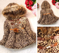 Wholesale Details about Winter Baby Girls Kids Faux Fur Leopard Hoodie Coat Clothes Jacket Clothes