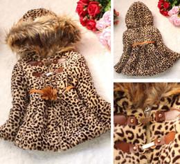 Wholesale Details about Winter Baby Girls Kids Faux Fur Leopard Hoodie Coat Clothes Jacket Clothes