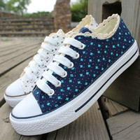 Wholesale OP Hot Summer womans Sneakers Breathable Fashion Casual High Quality Lace up Canvas Shoes Size