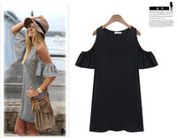 plus size dress - Summer Dress Woman Clothes Butterfly Sleeve Cotton Cute Strapless Dress Plus Size Dresses W3364