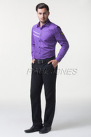 Cool Designer Mens Long Sleeve Military Dress Polo Shirts Ca...