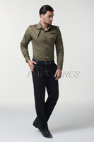 Unique Solid Mens Long Sleeve Shirts Tees Fashion Style Dres...