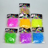 Cheap Big Kids Noctilucent loom bands Best Multicolor Rubber kids gift