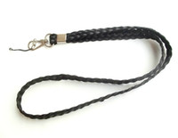 Wholesale Black weaving Cell Phone Neck Lanyard for ID Card Badge Holder Strap Mp3 mp4 Lanyard Key hook