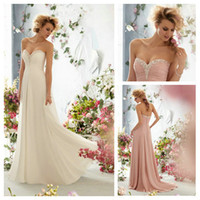 Cheap White and Pink Sweetheart Prom Dresses Crystal Beaded ...