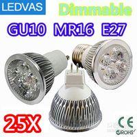 Wholesale LEDVAS High power CREE W x1W Dimmable GU10 MR16 E27 E14 GU5 Led Light Lamp Spotlight led bulb By DHL