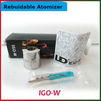 igo w - New ECig Atomzier IGO W RDA Atomizer Freeshipping Rebuidable Atomizer IGO W Box Packing Large Vapor Electronic Cigarettes Vaporizers