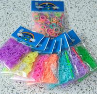 Cheap Rainbow Loom Bands Glow in the Dark Rubber Band for DIY Bracelet Rainbow Loom 300pcs