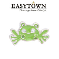 Cheap New Design cute frog shape Floating Locket Charms Fit Glass Memory Living Lockets