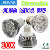 Wholesale LEDVAS High power CREE W x1W Dimmable GU10 MR16 E27 E14 GU5 Led Light Lamp Spotlight led bulb By DHL
