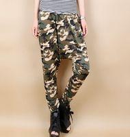 Wholesale Harem Pants Ladies Plus Size Baggy Lower Garments Wide Leg Loose Pants Trousers Fashion HIp Hop Womens Casual Army Camouflage Slacks