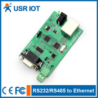 Wholesale USR TCP232 RS232 RS485 serial to TCP IP ethernet server module converter