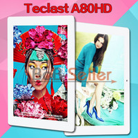 Wholesale 8 quot Tablet PC Teclast A80HD Quad Core GHz Slim Laptop G G IPS Screen Gb RAM Gb ROM Android Support OTG HDMI Wifi