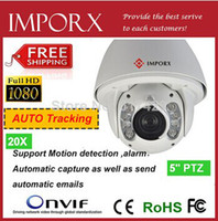 Wholesale 2014 Top Auto Tracking X High Speed M IR auto track ptz IP camera with wall bracket M full HD auto tracking ip camera