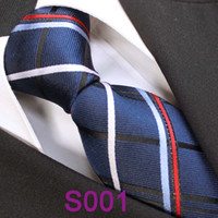 Cheap BRAND NEW COACHELLA Men ties 100% Pure Silk Tie Navy With Red Blue White Stripes Woven Necktie Formal Neck Tie for dress shirts Wedding