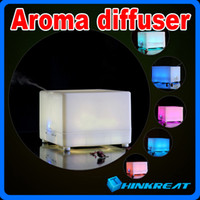 Wholesale Ultrasonic ML Colorful LED Aroma Diffuser With Anion Perfume Diffuser humidifier Air Freshener for Home Office