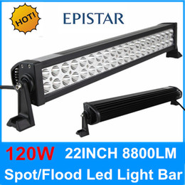 Wholesale 22 W LED Work Light Bar Spot Flood Combo WD Jeep X4 Truck Offroad Driving Lamp Offroad LED Lights high power led light bar