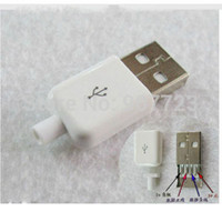 DLP Yes RF 100pc lot DIY USB 2.0 A Male Assembly Adapter Connector Plug Socket white