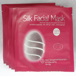 Wholesale Silk Facial Mask Natural Silk Deep Sea Fish Collagen Micromolecule Repair Damaged Injured Skin Delay Ageing g v line Face Mask Skin Care