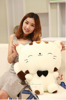 Wholesale OP Cute Big Cat Face Doll Onigiri Cat Lucky Cat Doll Happy Cat Plush Toys And Gifts CC0016