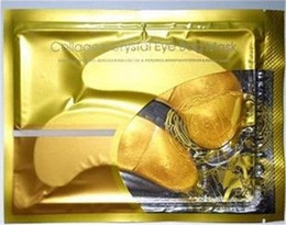 Wholesale Anti Wrinkle NEW Crystal Collagen Gold Powder Eye Mask Golden Mask stick to dark circles HOT