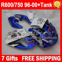 Wholesale Tank NEW Blue white For SUZUKI GSX R750 R600 SRAD GSXR S99 Factory blue GSXR750 Fairing