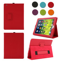 apple warehouse - Clearance US Warehouse PU Leather Case for iPad Flip Stand Cover with Elastic Hand Strap Magnetic Sleep Sensor