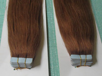 Wholesale 30 g Full Head PU Tape Tip Skin Wefts Indian Remy Hair Extensions Auburn Blonde Black Green Ombre Mix Color Straight Body Deep Wavy