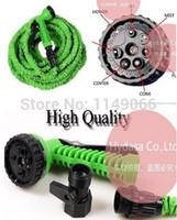 Cheap Wholesale-OP-Free Shipping New 1PCS Blue green Color EU US Connector 100FT magic pocket Water Hose garden hose expandable hose flexiable