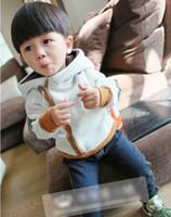 Wholesale 2013 New Korean Winter Woolen Thicken Sweater Boy Warm Outwear Children Pure Cotton Hoodie Coat C0181