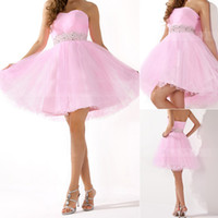 Cheap 2014 New Cheap Under 50 Homecoming Dresses With Sweetheart Beads Backless A Line Short In Stock Modest Pink Prom Party Cocktail Gowns SD134