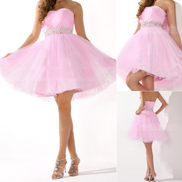 Wholesale 2015 New Cheap Under Homecoming Dresses With Sweetheart Beads Backless A Line Short In Stock Modest Pink Prom Party Cocktail Gowns SD134