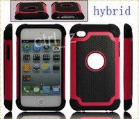 Wholesale Rugged Hybrid Silicone PC robot Ballistic case Protective Touch Case Cover for touch football grain case