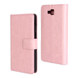 Wholesale Luxury Crazy Horse Leather Flip Wallet Cover Case for LG Optimus L9 II with Magnetic Snap for LG Optimus L9 II 2 Free Shipping